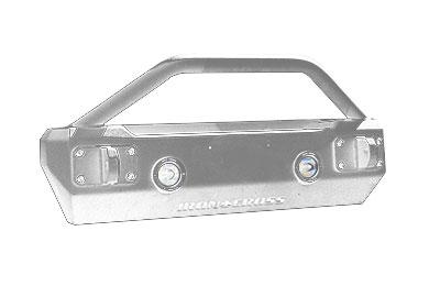 iron cross stubby front bumperbar agp 1200 grey