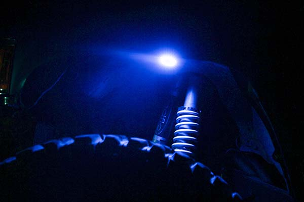kc hilites cyclone led rock light kit sample blue
