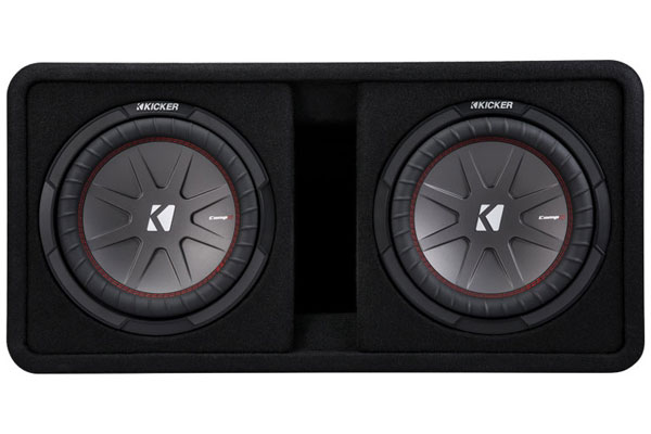 Image of Kicker CompR Loaded Enclosures 43DCWR102 Dual Subwoofer Vented Enclosure
