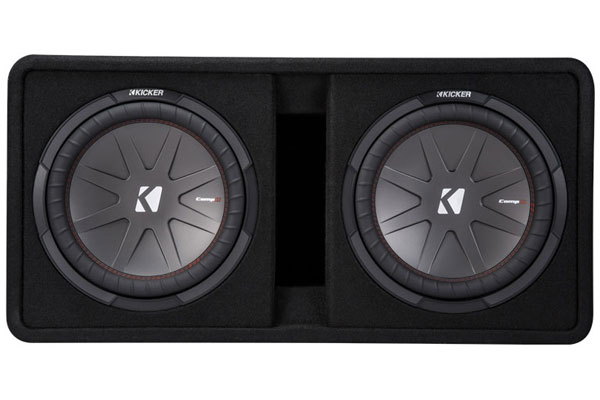 Image of Kicker CompR Loaded Enclosures 43DCWR122 Dual Subwoofer Vented Enclosure