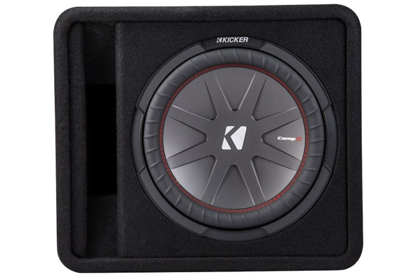 Image of Kicker CompR Loaded Enclosures 43VCWR122 Single Subwoofer Vented Enclosure
