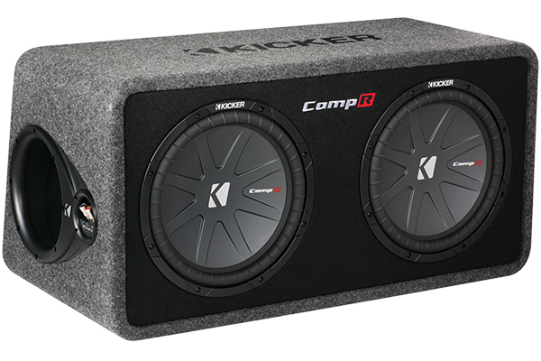 Image of Kicker CompR Loaded Enclosures 40DCWR102 Dual Subwoofer Vented Enclosure