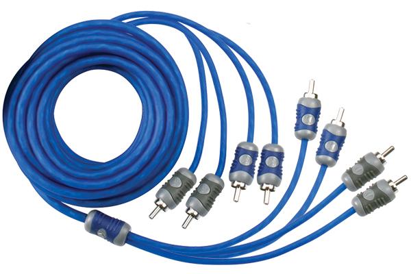 audio Kicker K-Series RCA Cables 4-Channel Patch Cables KI46
