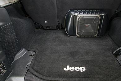 kicker vss powerstage subwoofer jeep 4door installed sample