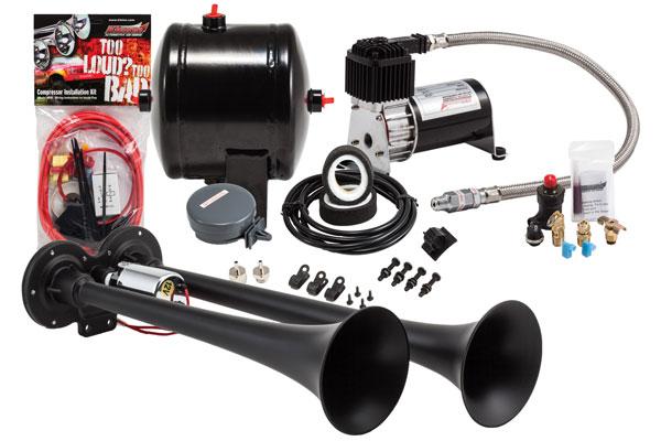 Image of Kleinn Pro Blaster Compact Air Horn Kits HK2-1 HK2 Compact Dual Air Horn Kit