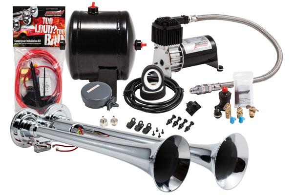 Image of Kleinn Pro Blaster Compact Air Horn Kits HK2 HK2 Compact Dual Air Horn Kit