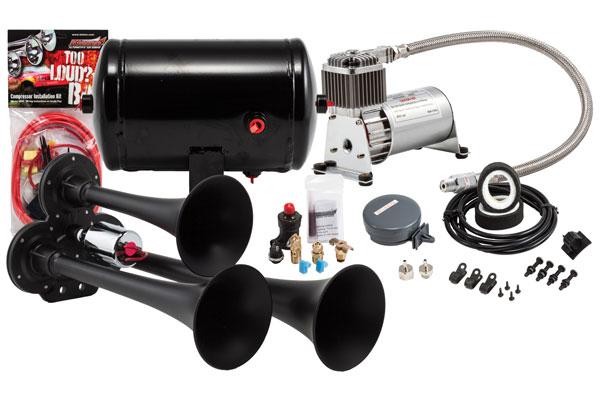 Image of Kleinn Pro Blaster Compact Air Horn Kits HK3-1 HK3 Compact Triple Air Horn Kit