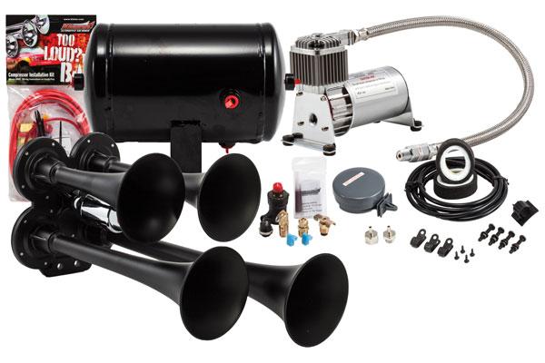 Image of Kleinn Pro Blaster Compact Air Horn Kits HK4-1 HK4 Compact Quad Air Horn Kit