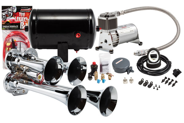 Image of Kleinn Pro Blaster Compact Air Horn Kits HK4 HK4 Compact Quad Air Horn Kit