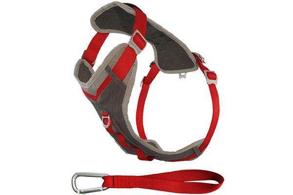 kurgo tru fit smart dog journey adventure harness red charcoal