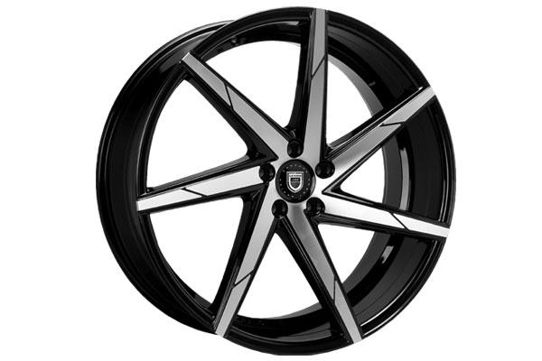 lexani css 7 wheels machine face with black lip sample