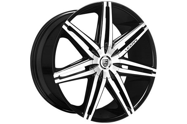 lexani johnsonII black machined wheel sample