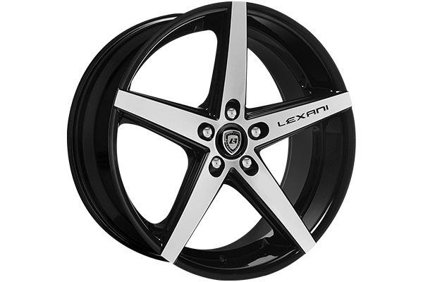 lexani r four black machined wheels exposed lugs