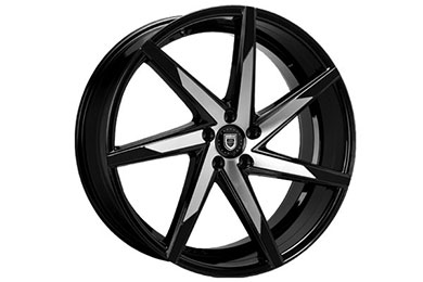 lexani css 7 wheels machine face with black tips sample