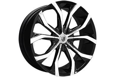 lexani lust black machined wheels sample