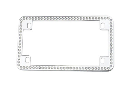License2Bling Swarovski Crystals Motorcycle License Plate Frames MTR - CR - ICE Motorcycle License Plate Frames