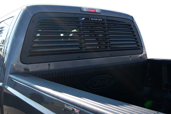 1970 Chevy Pickup >> 2008-2014 Ford F-250 Window Louvers - Mach-Speed Inc MS-32002 - Mach-Speed ABS Rear Window Louvers