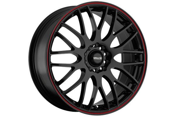 maxxim maze wheels black red stripe sample
