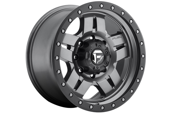 fuel anza wheels matte gunmetal 8 lug sample