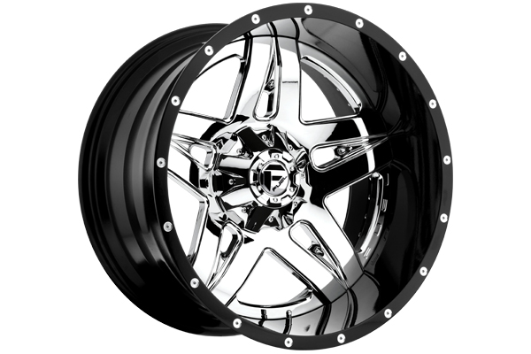 fuel full blown wheels chrome face with milled accents sample