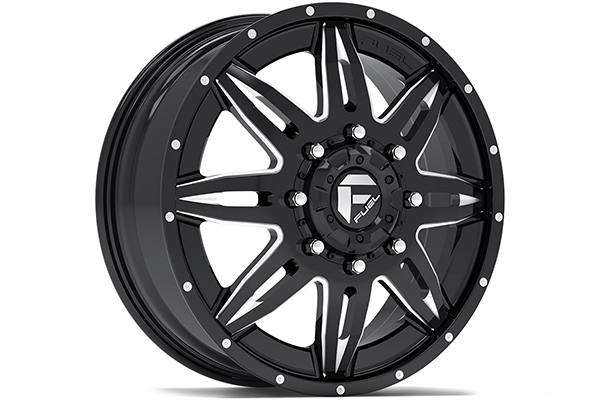 fuel lethal dually wheels front black sample