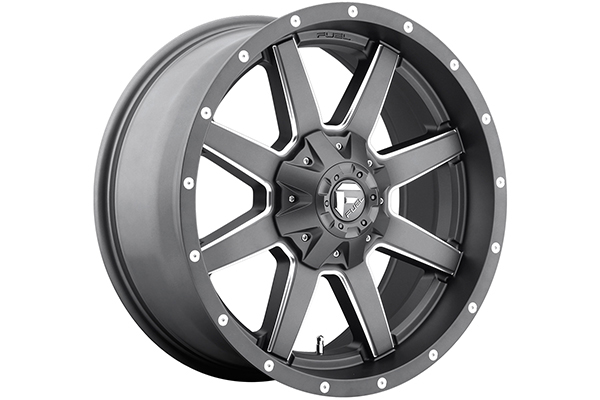 fuel maverick wheels matte gun metal sample