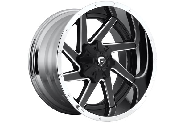 fuel renegade wheels black with machined accents sample