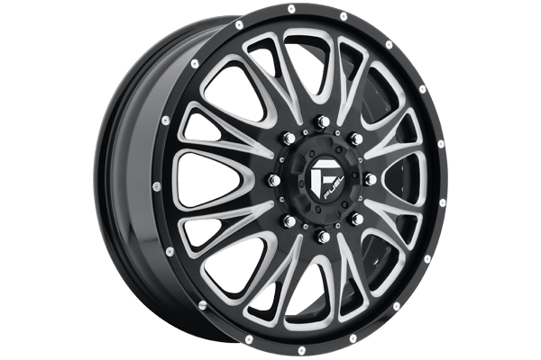 fuel throttle dually wheels front black with milled accents sample