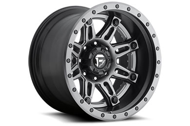fuel hostage ii wheels matte black with anthracite face and lip sample