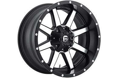 fuel maverick wheels black with machined spokes sample
