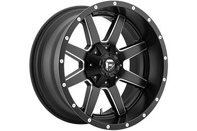 fuel maverick wheels black with milled windows sample