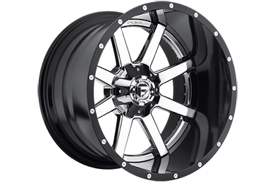 fuel maverick wheels chrome face with gloss black lip sample