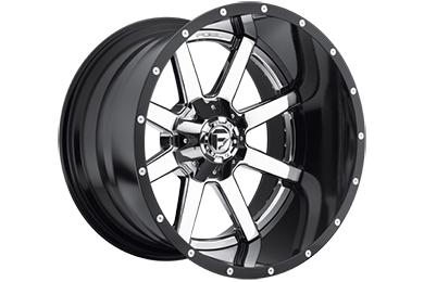 fuel maverick wheels chrome face with gloss black lip sample