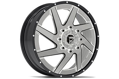 fuel renegade dually wheels chrome face with gloss black lip front sample