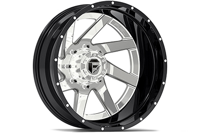 fuel renegade dually wheels chrome face with gloss black lip rear sample