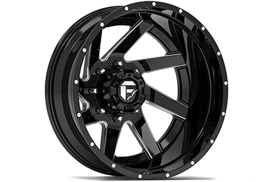 fuel renegade dually wheels gloss black with milled accents rear sample