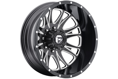 fuel throttle dually wheels rear black with milled accents sample