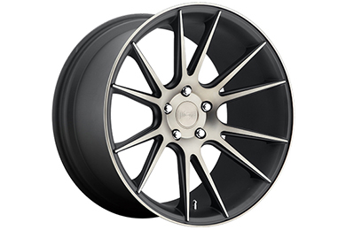 niche vicenza wheels black with machined face sample