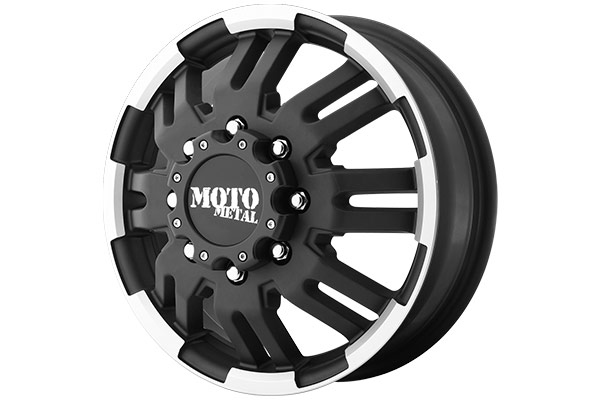 moto metal mo963 dually matte black machined sample image