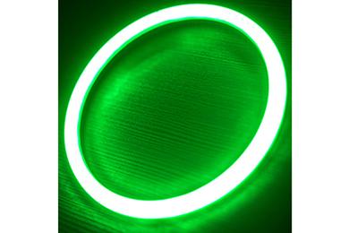 oracle headlight halo kits plasma green sample