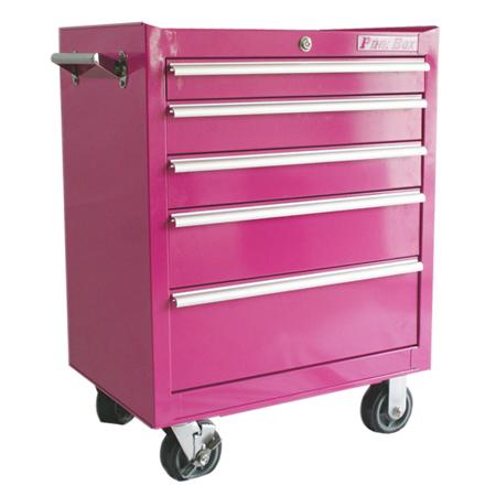 the original pink box pb2605r the original pink box rolling tool chests. Black Bedroom Furniture Sets. Home Design Ideas