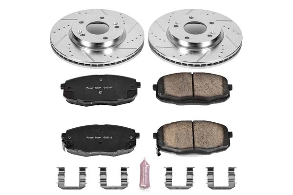 Power Stop K6779 Front Z23 Evolution Brake Kit with Drilled//Slotted Rotors and Ceramic Brake Pads
