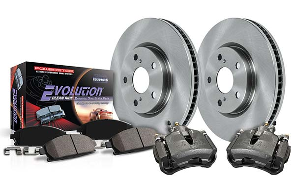 power stop oek ceramic brake kits front or wheel brake kit with calipers sample
