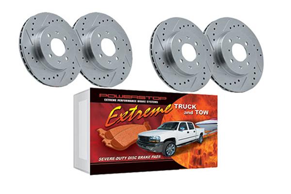 power stop truck tow brake kit 4wheel wheel