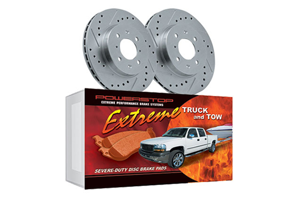 power stop truck tow brake kit front wheel