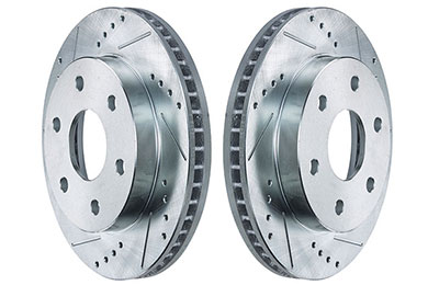 powerstop cross drilled slotted rotors sample