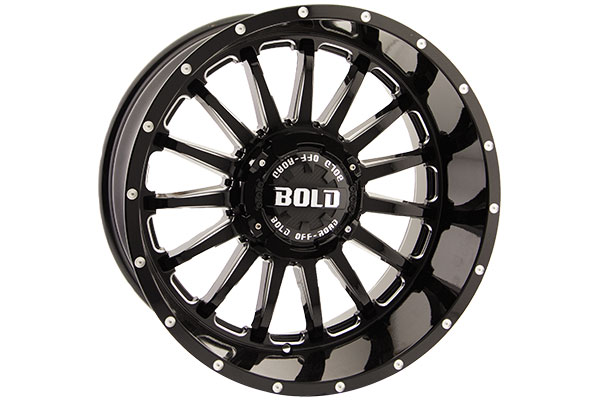 bold off road bd002 wheels gloss black with milled windows sample