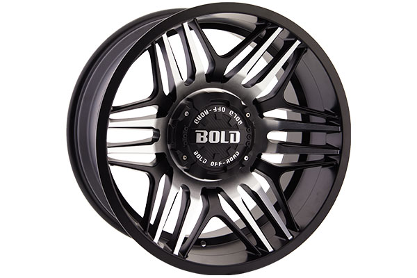 bold off road bd003 wheels matte black with machined spokes sample