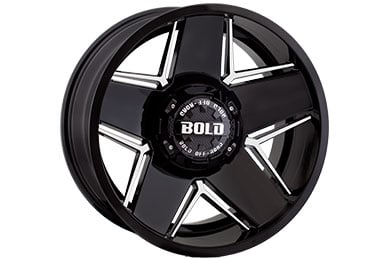 bold off road bd004 wheels gloss black with milled windows sample
