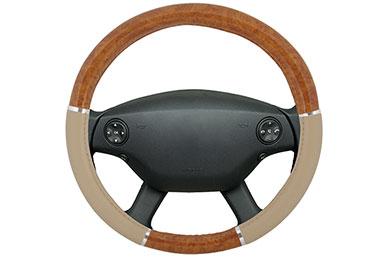 proz burlwood steering wheel cover light beige